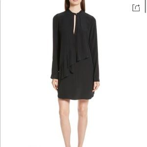 Robert Rodriguez Long-Sleeve Silk Drape Dress 0